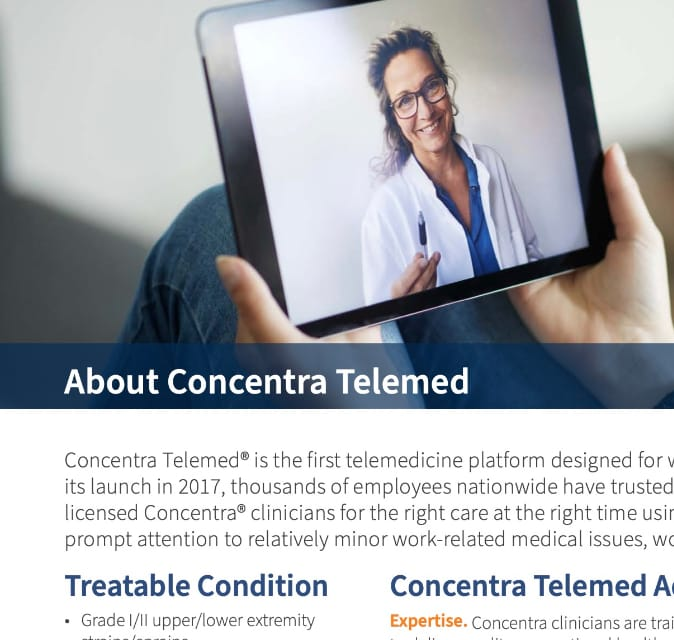 About Concentra Telemed