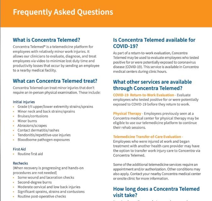 Telemed FAQs