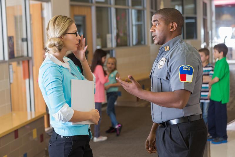 teacher and security